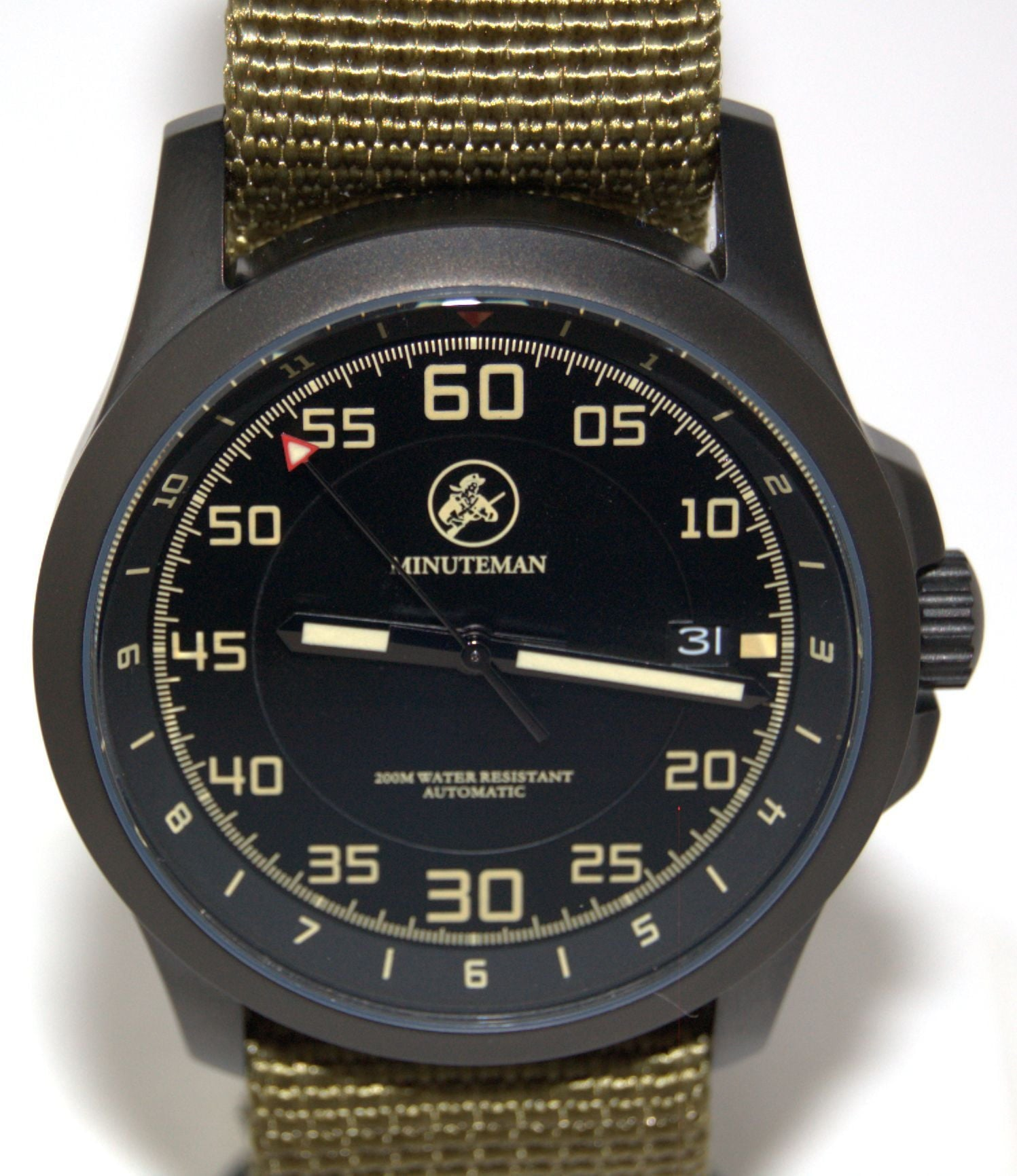 Minuteman  Bravo DLC Finish USA assembled wristwatch,minutemanwatches,Minuteman,Wrist Watch