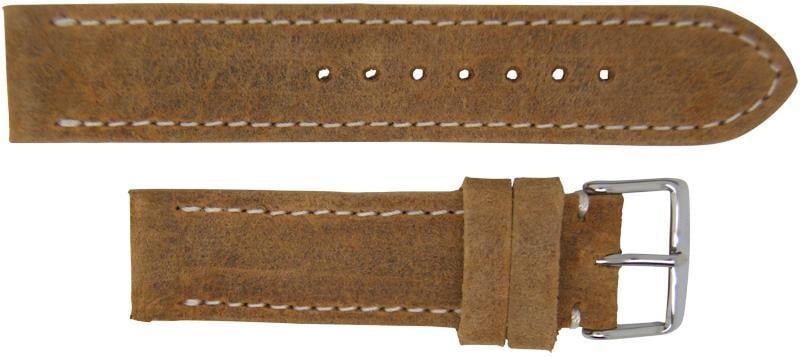 Italian Made Pull Up Wax Leather Watch Strap 22mm - The CGA Company