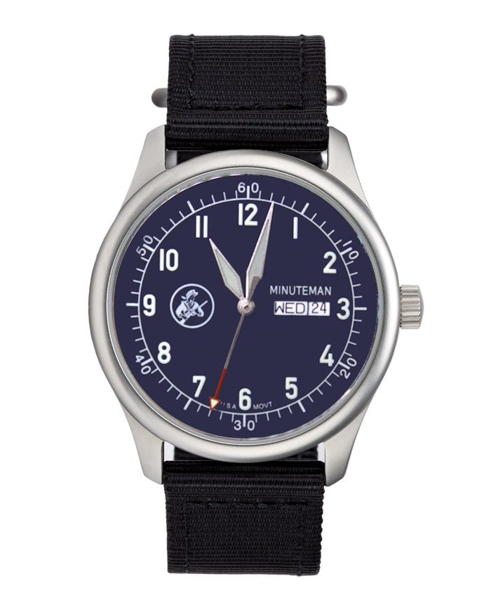 Pre-Order Minuteman A11 Field Watch Old Glory Blue Dial Powered by Ameriquartz,minutemanwatches,Minuteman,Wrist Watch
