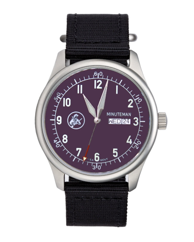 Pre-Order Minuteman A11 Field Watch Purple Dial Powered by Ameriquartz