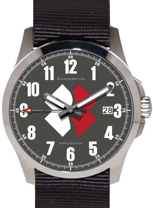Minuteman Team Rubicon Brushed Color Logo Quartz USA assembled wristwatch - minutemanwatches
