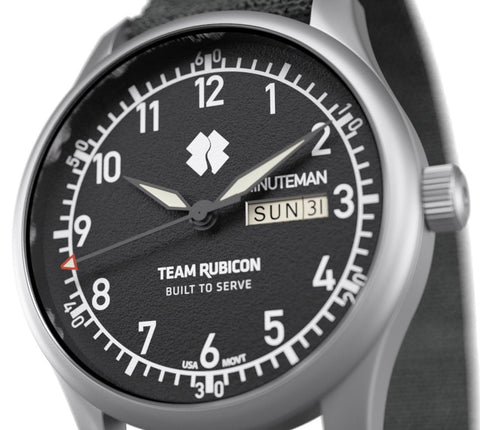 Minuteman  Team Rubicon A11 Watch Black Dial Ameriquartz USA Movt.
