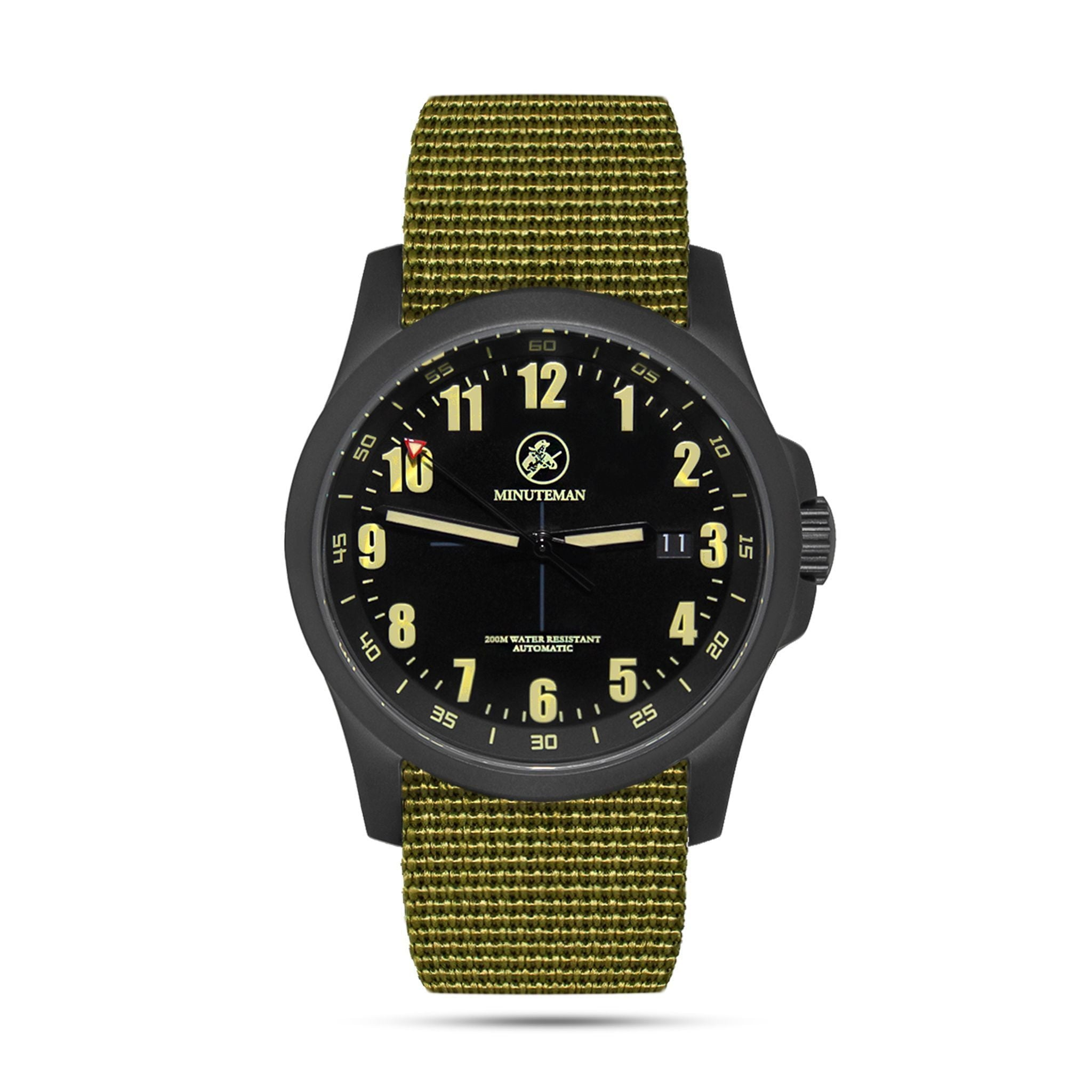 Minuteman Alpha DLC USA assembled wristwatch,minutemanwatches,Minuteman,Wrist Watch