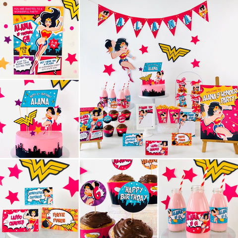 Wonder Woman Party Printable