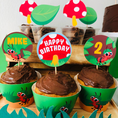 Ants go Marching Cupcake Toppers