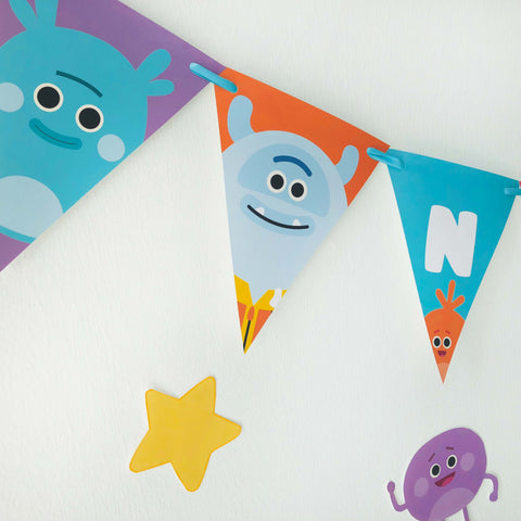 Bumble Nums Birthday Banner