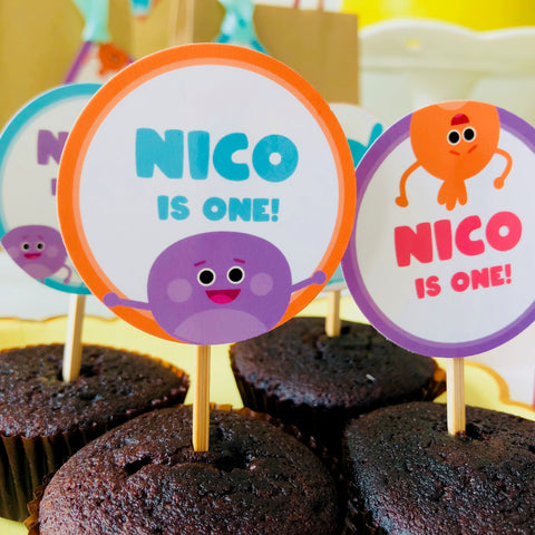 Bumble Nums Cupcake Toppers