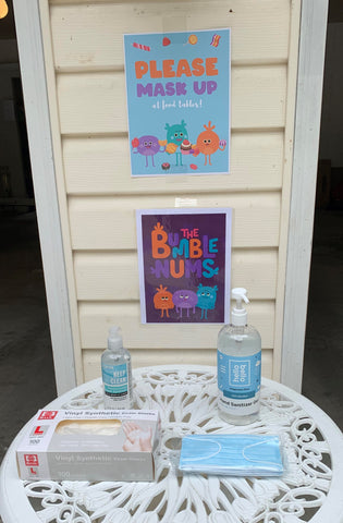 Bumble Nums Party Signs
