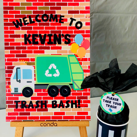 Trash Bash Party Sign