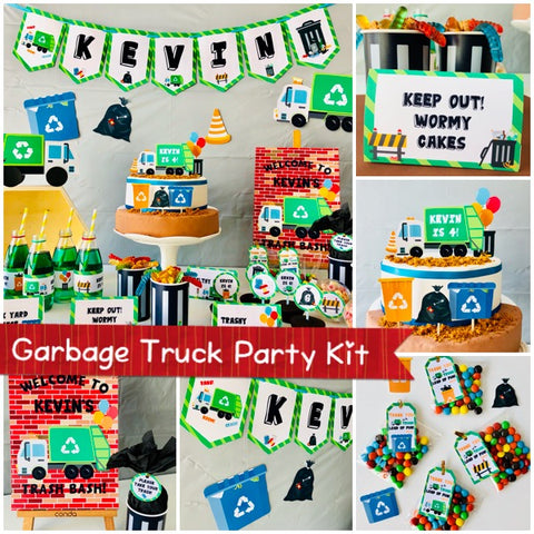 Garbage Truck Party Printable Kit