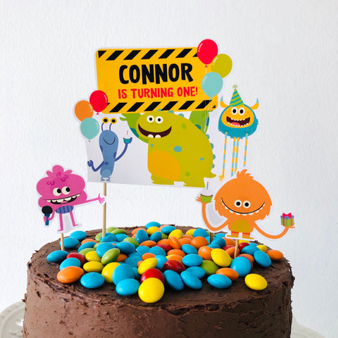 Super Simple Monsters Cake Topper