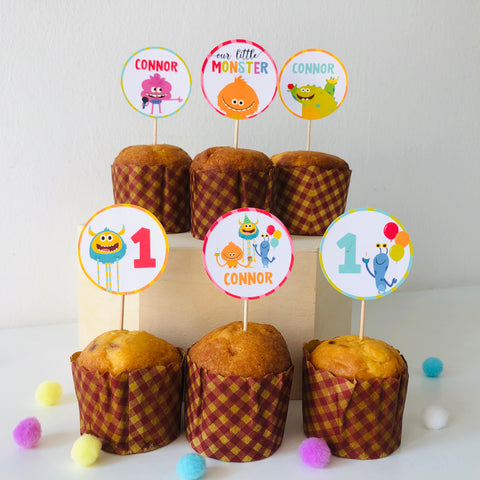 Super Simple Monsters Cupcake Toppers