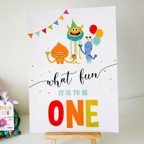 Super Simple Monsters Party Sign