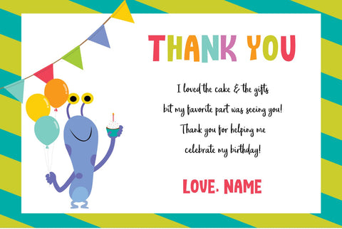 Super Simple Monsters Thank You Cards