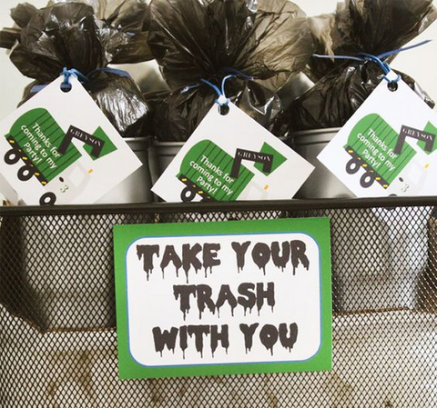 Trash Bag Party Favors