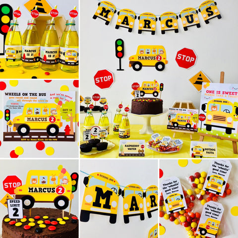 Wheels on the Bus Party Printable Kit