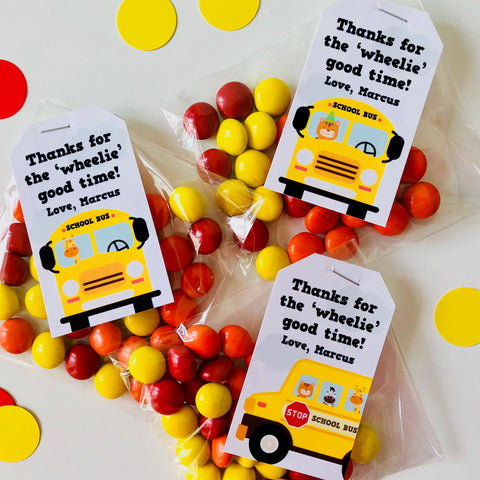 Wheels on the Bus Party Favors