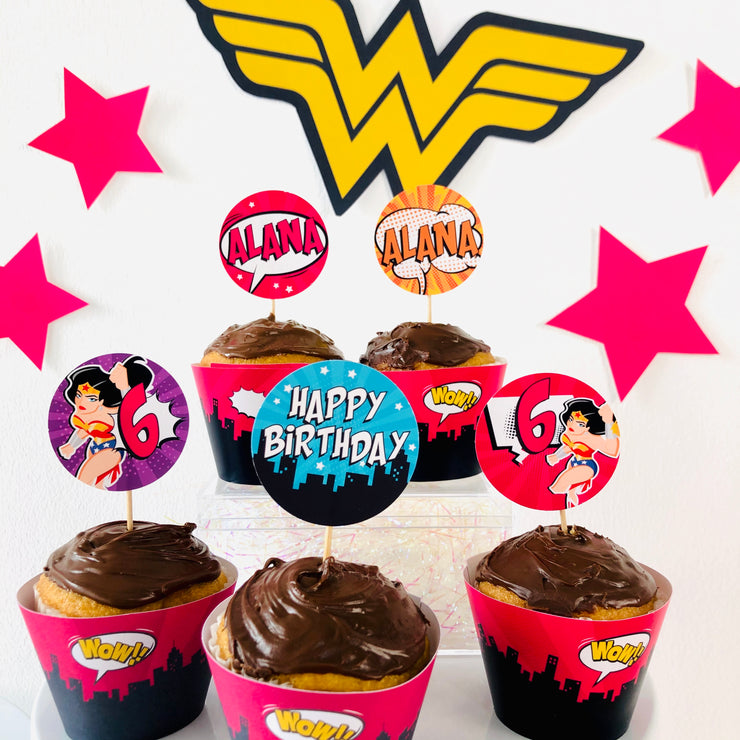 Wonder Woman Cupcake Toppers
