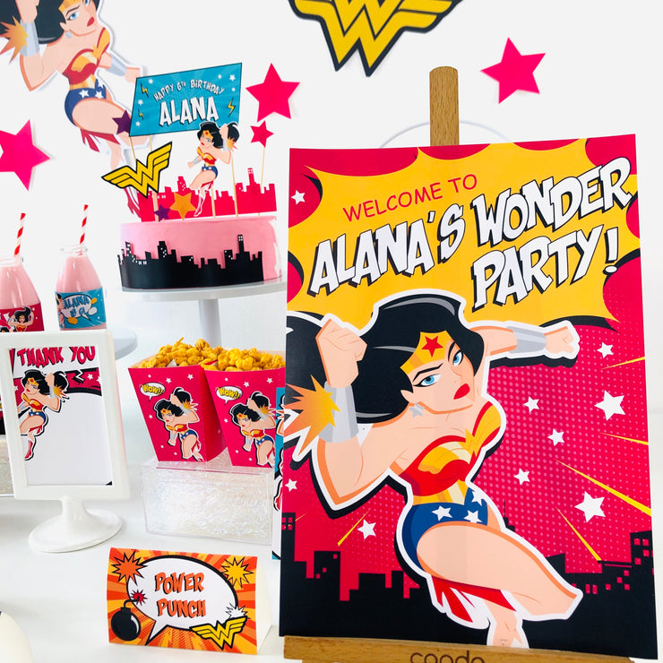 Wonder Woman Party Sign