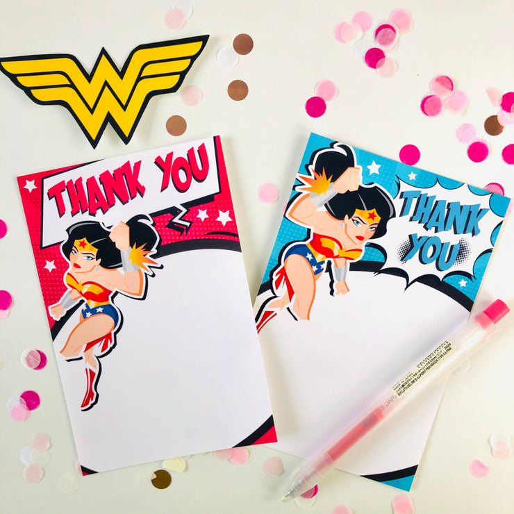 Wonder Woman Thank You Cards