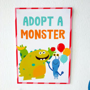 Adopt a Monster Printable