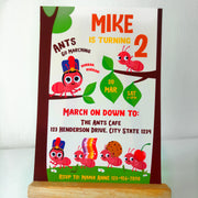 Ants go Marching Birthday Invitation