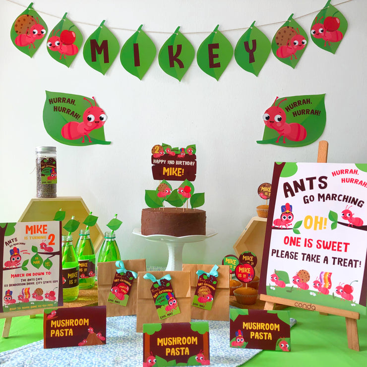 Ants go Marching Birthday Party Printable