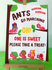 Ants go Marching Party Decor Sign