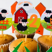 Baa Baa Black Sheep Cupcake Topper