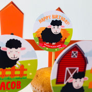 Baa Baa Black Sheep Cupcake Toppers