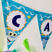 Baby Shark Birthday Banner