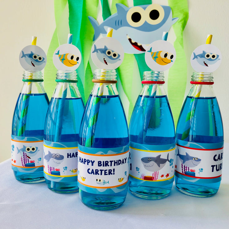 Baby Shark Bottle Stickers