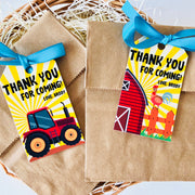 Barnyard Farm Party Favor Tags