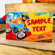 Dirt Bike Food Card