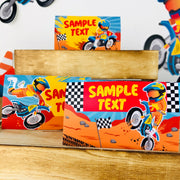 Dirt Bike Food Tent Cards