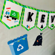 Garbage Truck Birthday Banner