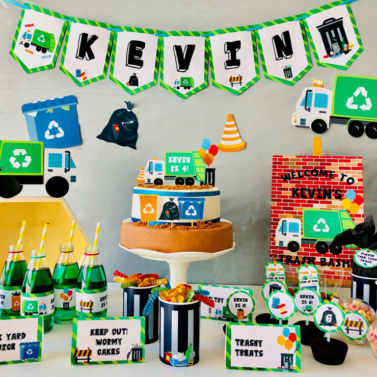 Garbage Truck Birthday Party