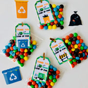 Garbage Truck Party Favor Tags