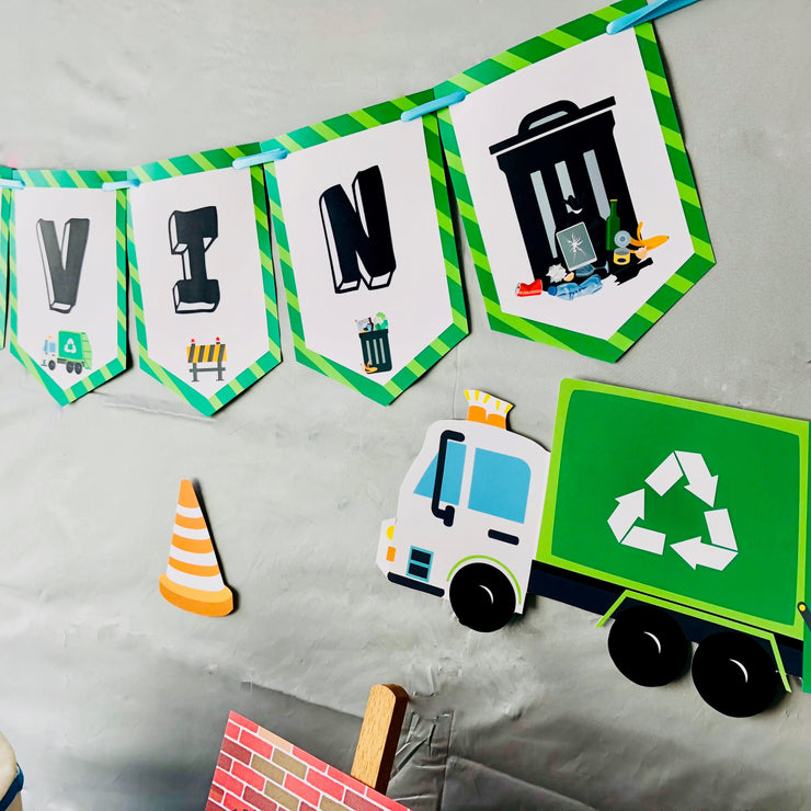 Garbage Truck Party Garland