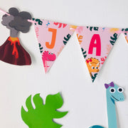 Girl Dinosaur Birthday Banner