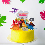 Girl Dinosaur Birthday Cake