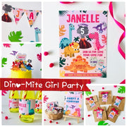 Girl Dinosaur Birthday Party Printables