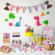 Girl Dinosaur Birthday Party