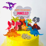 Girl Dinosaur Cake Topper