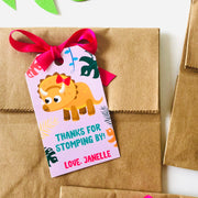 Girl Dinosaur Party Favour