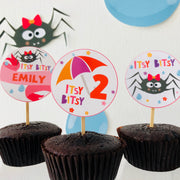 Itsy Bitsy Spider Cupcake Toppers