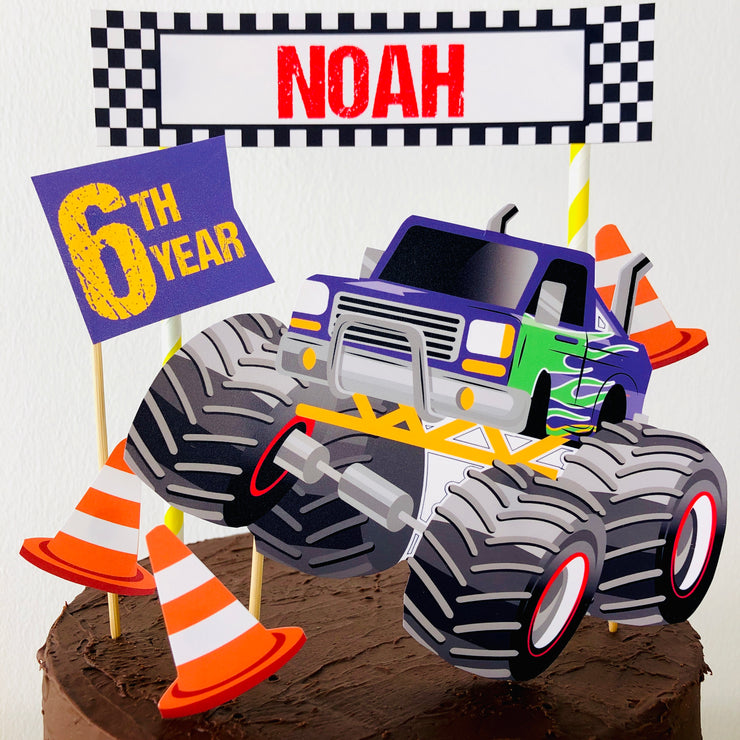 Monster Truck Birthday Cake Topper