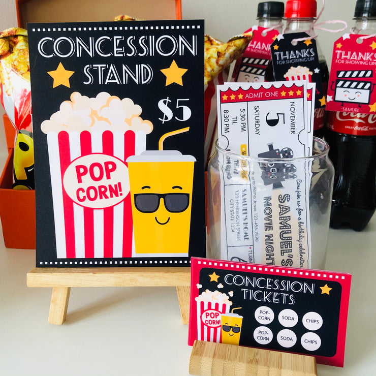 Movie Night Concession Stand Sign