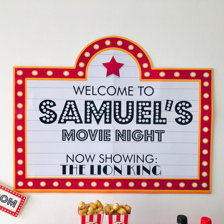 Movie Night Party Backdrop