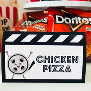 Movie Night Party Food Card
